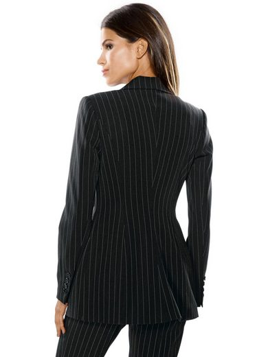 Patrizia Dini By Heine Long Blazer Pinstripes