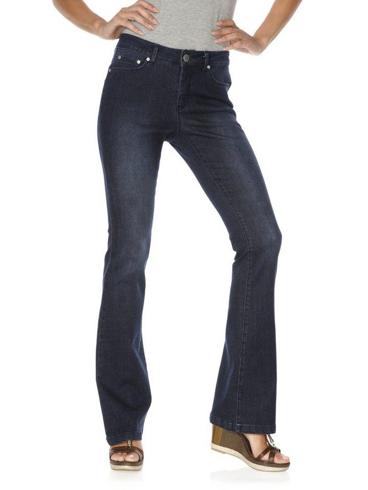 ASHLEY BROOKE by Heine Bodyform-Bootcut-Jeans mit Bauch-weg-Funktion in dark denim