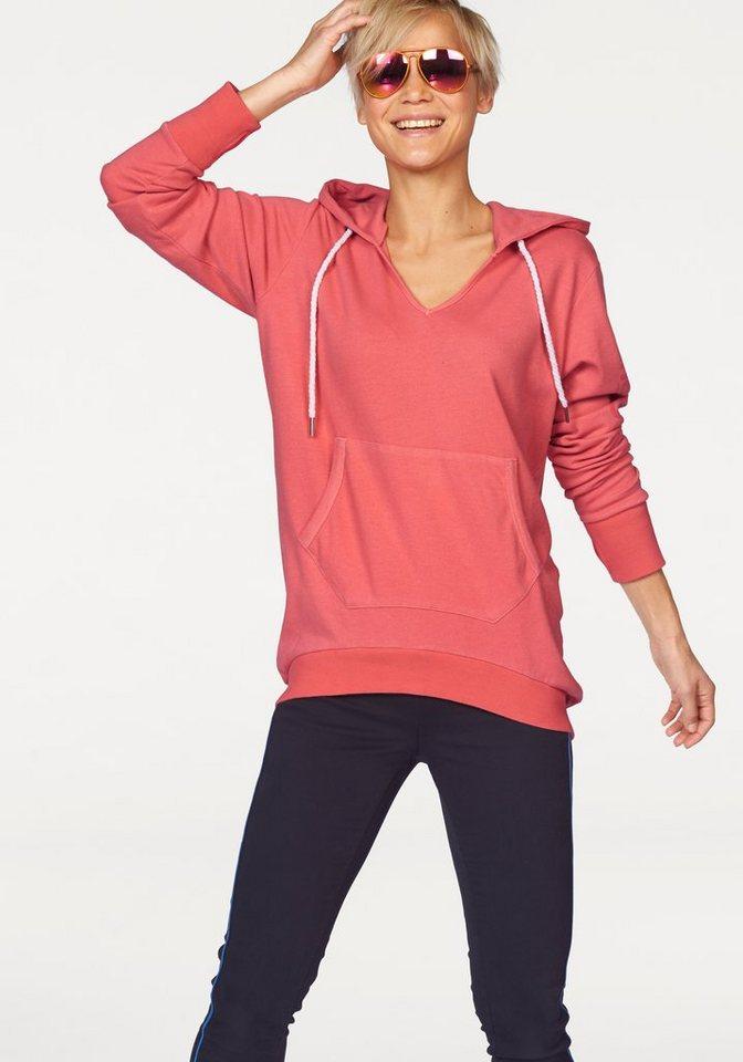 KangaROOS Kapuzensweatshirt mit großem Print auf dem Ärmel in pink