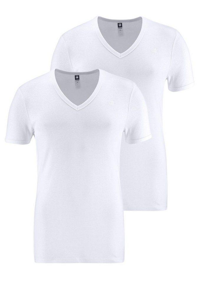 g star raw t shirt (packung, 2er pack) basic artikel in blickdichter  g star raw t shirt (packung, 2er pack) basic