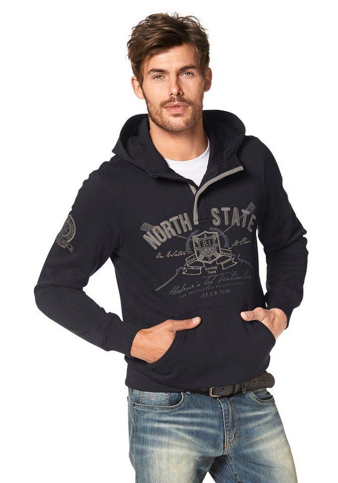 Rhode Island Kapuzensweatshirt in schwarz