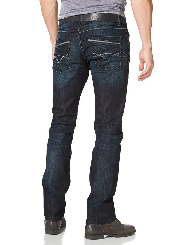 Bruno Banani Straight-Jeans »Dylan« in darkblue
