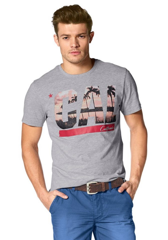 John Devin T-Shirt in hellgrau-meliert