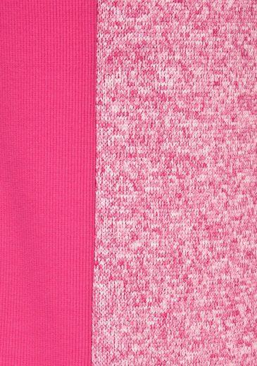 KangaROOS Sweatjacke, mit kontrastfarbigem Reißverschluss