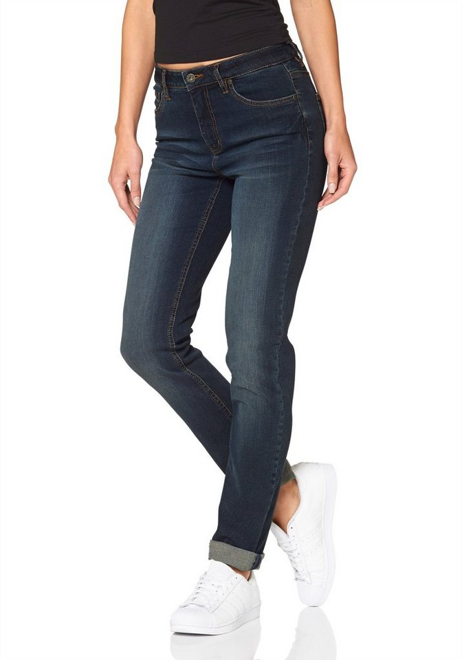 Arizona Mom-Jeans in dark-blue-used