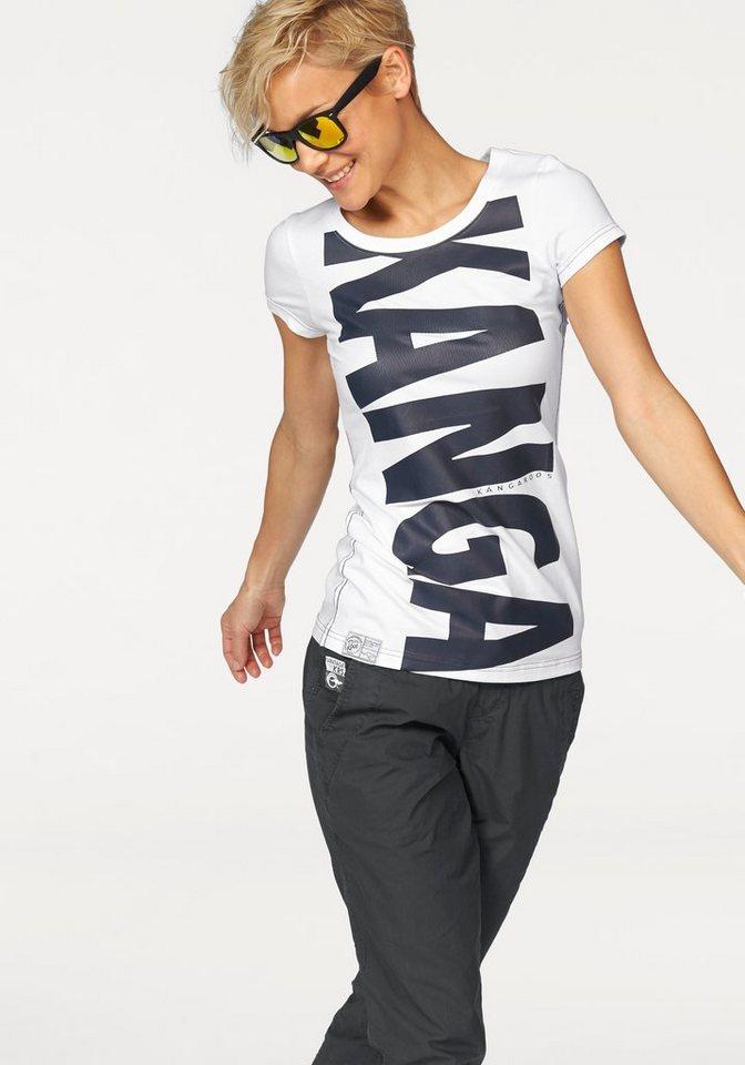 KangaROOS T-Shirt mit tollem Print in weiß-navy