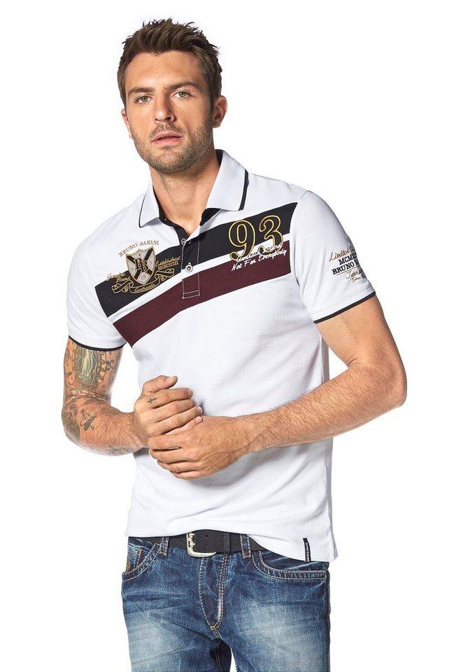 Bruno Banani Poloshirt Piqué Qualität in weiß