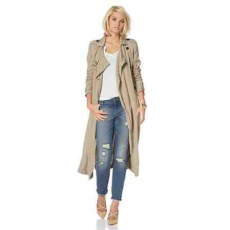 Laura Scott Trenchcoat in weich fallender Longform