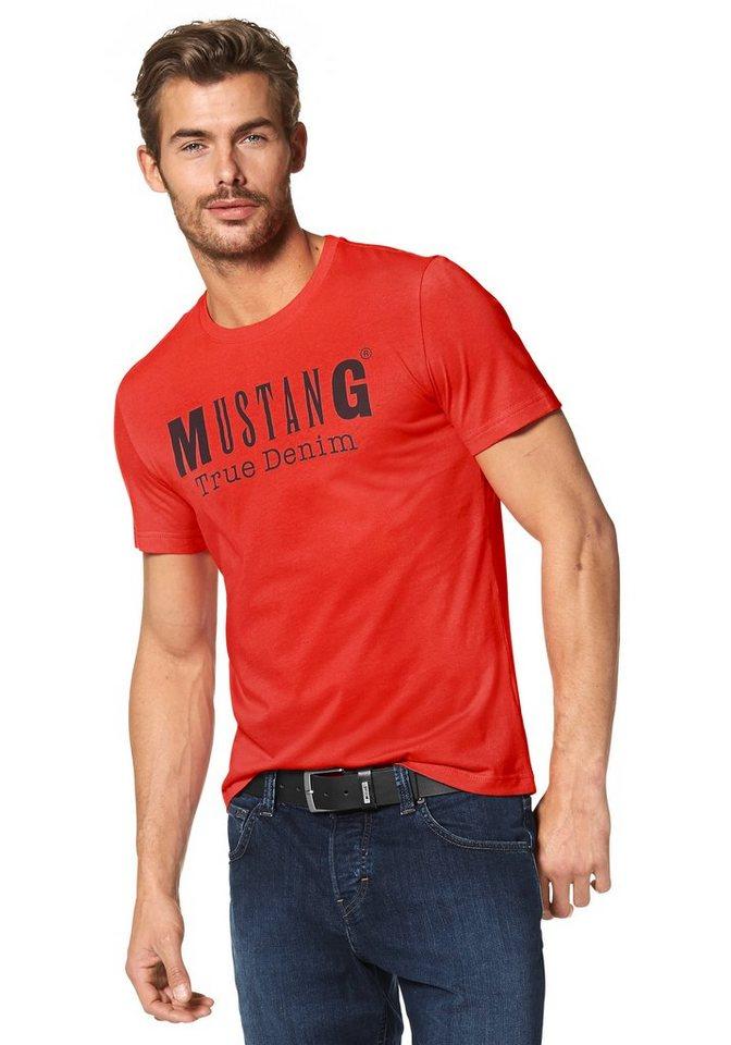 Mustang T-Shirt in orange