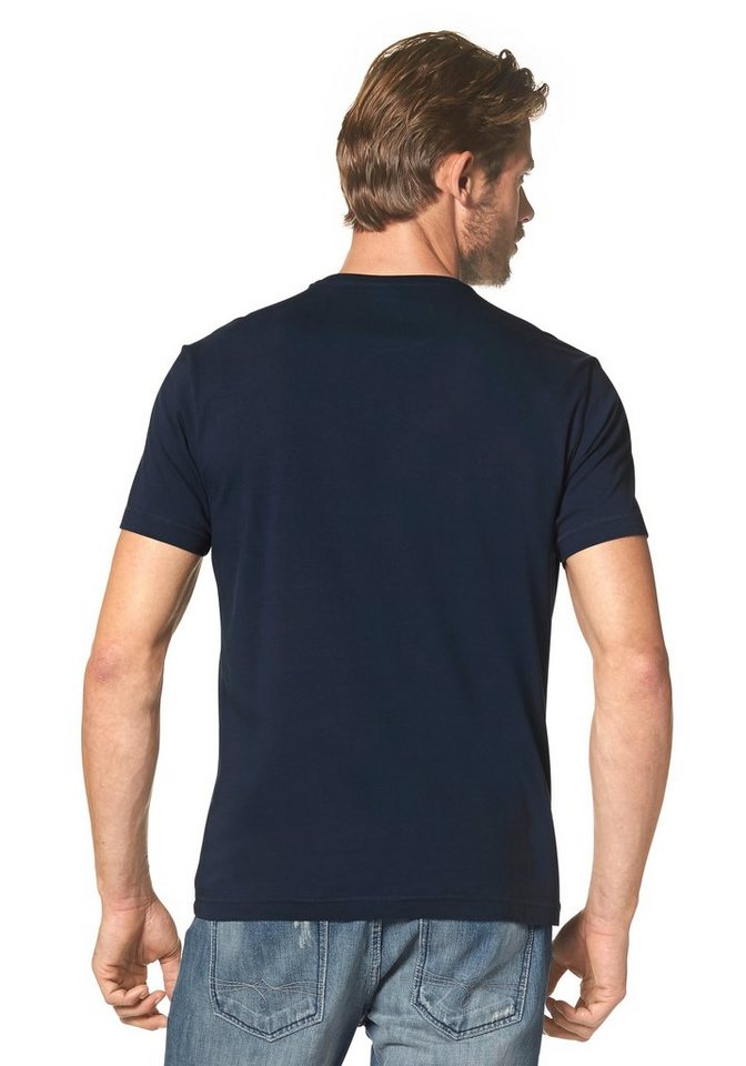 s.Oliver RED LABEL T-Shirt in dunkelblau