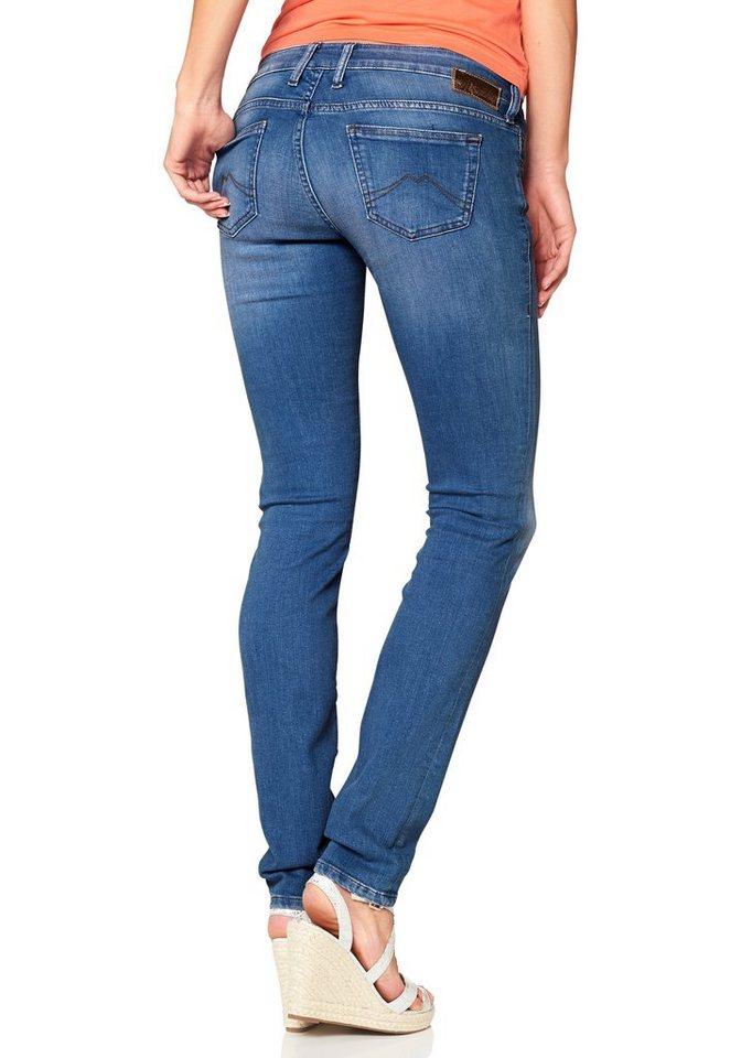 Mustang Röhrenjeans »Gina Skinny ocen blue stretch denim« in hellblau