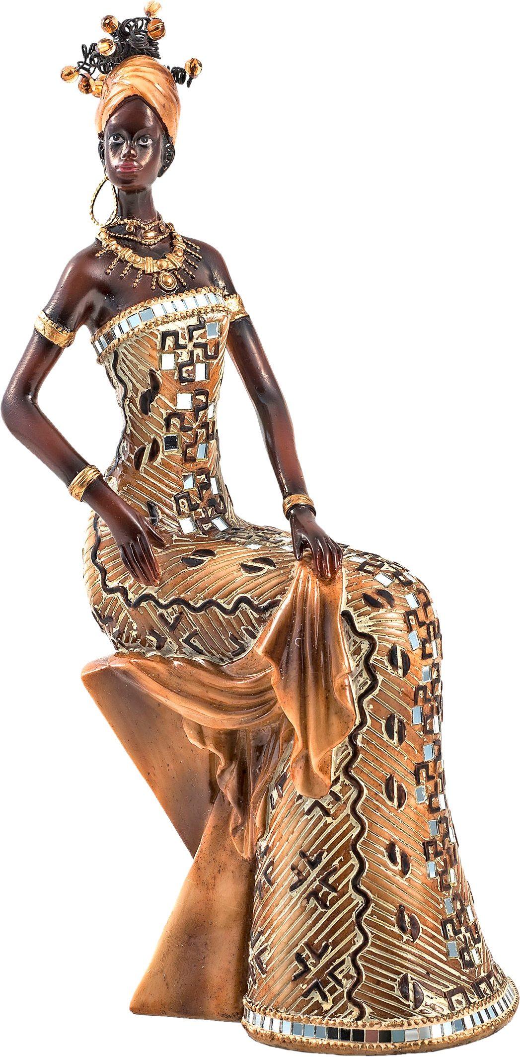Home affaire Dekofigur »Afrikanische Frau sitzend«