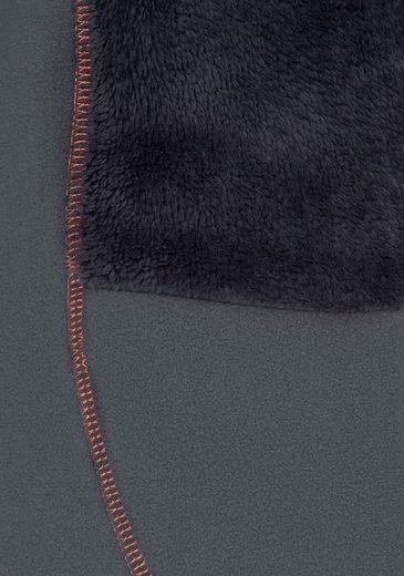 KangaROOS Fleecejacke, mit pinken Kontrastnähten