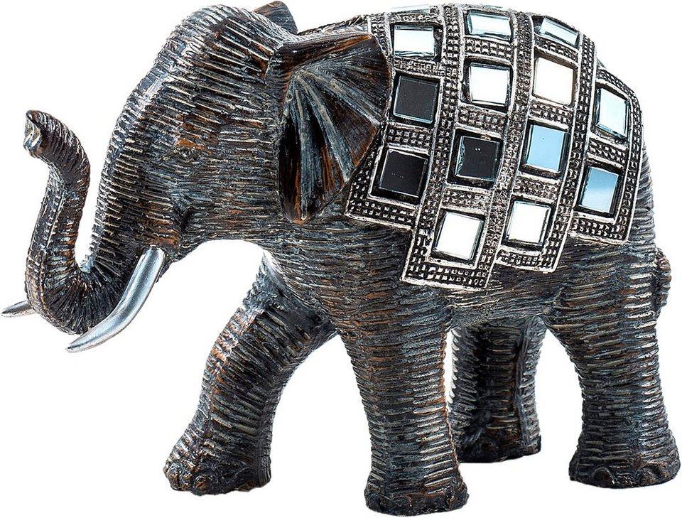 Home affaire Dekofigur »Elefant« in schwarz