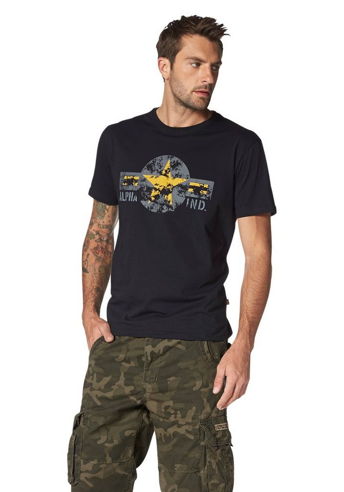 Alpha Industries T-Shirt »Usaf T« in schwarz