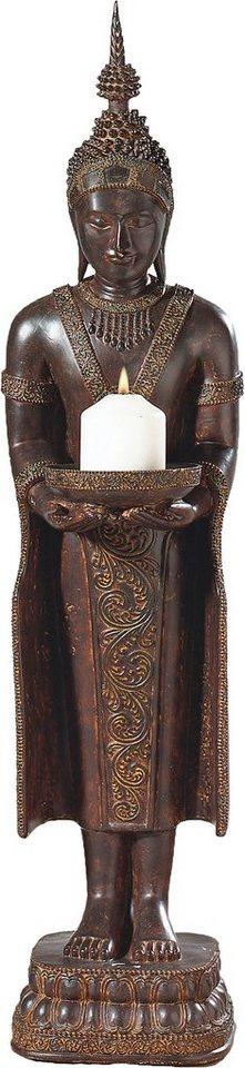 Home affaire Kerzenhalter »Buddha« stehend in braun