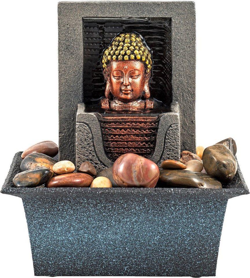 Home affaire Zimmerbrunnen Buddha »Lotus« in schwarz
