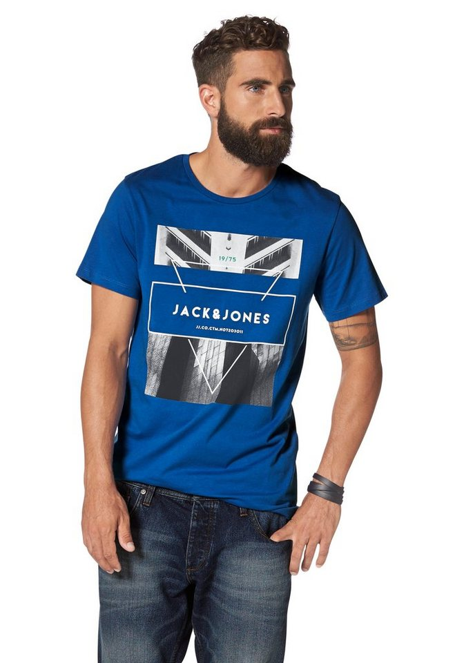 Jack & Jones T-Shirt in royalblau