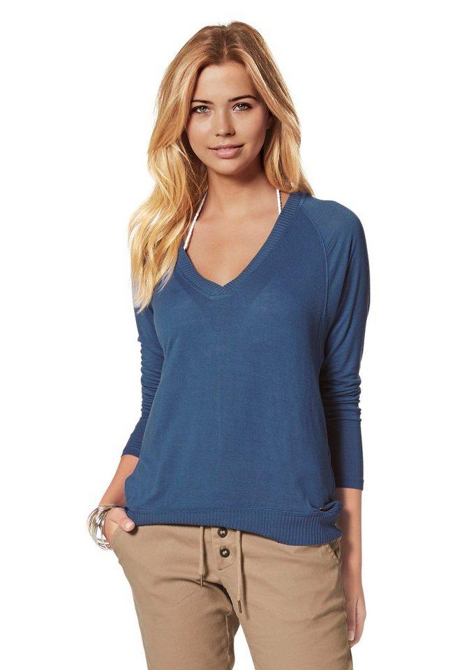 AJC V-Shirt mit Fledermäusärmeln in indigo