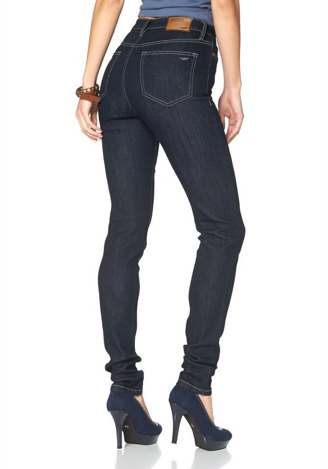 Arizona Skinny-fit-Jeans »Shaping« Super High Waist in rinsed