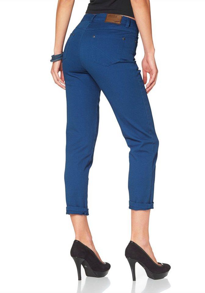 Arizona Girlfriend-Jeans Relax-Fit in royalblau