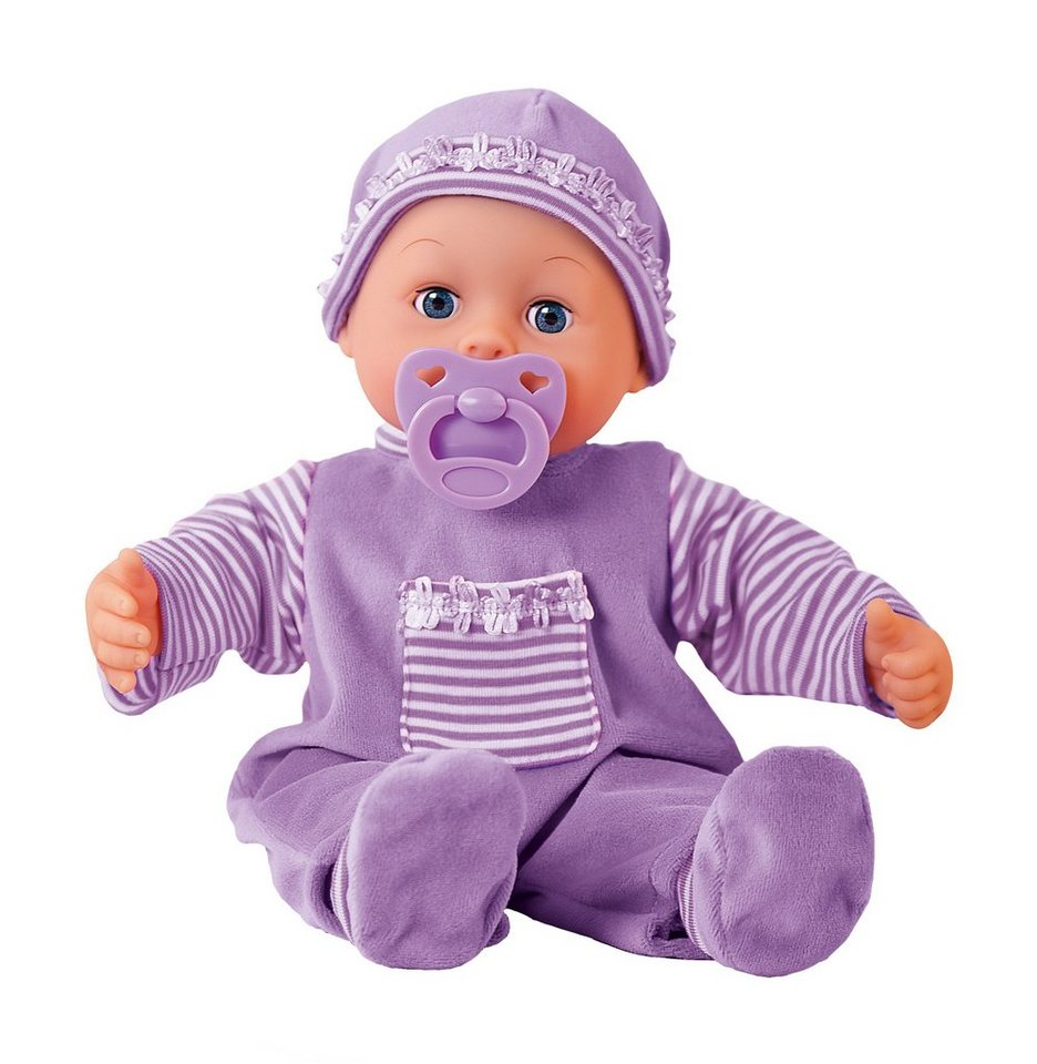 Bayer Design Babypuppe, »First Words« in lila