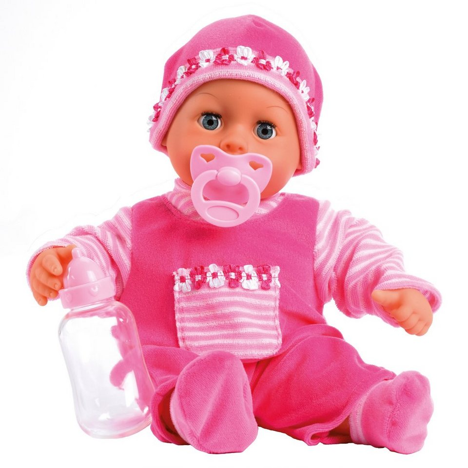 Bayer Design Babypuppe, »First Words« in pink