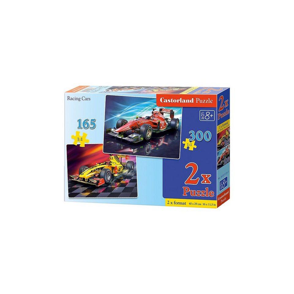 Castorland Puzzleset 165/300 Teile - Rennautos