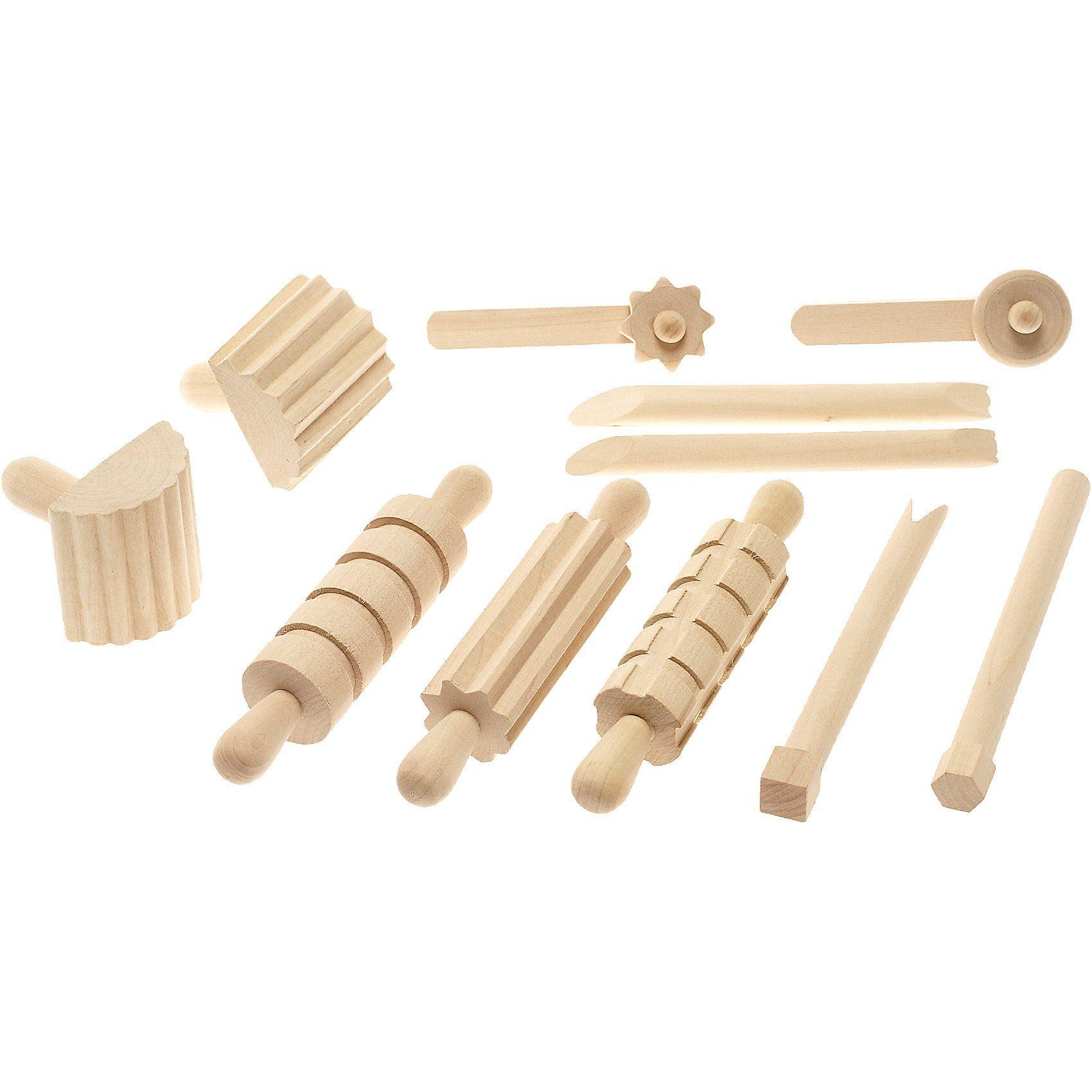 SUNNYSUE Modellierwerkzeuge aus Holz, 11-tlg.
