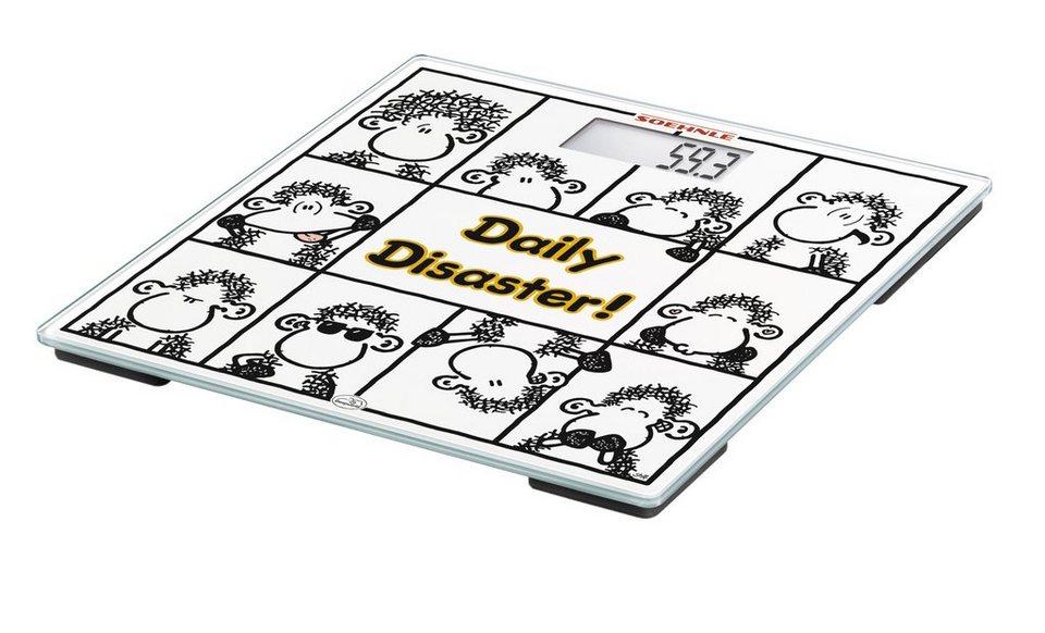 Personenwaage »PWD Sheepworld Daily Disaster« in schwarz/weiß