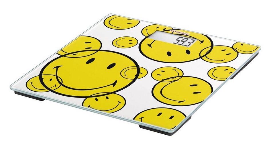 Personenwaage »PWD Smiley Be Happy« in weiß/gelb