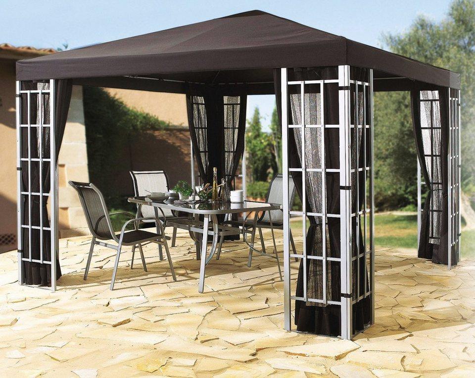Grasekamp Seitenteile für Pavillon »Alu-Optik«, mit 2 Fenster, anthrazit in grau