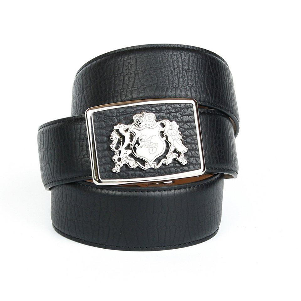 Anthoni Crown Ledergürtel für Jeans in Schwarz