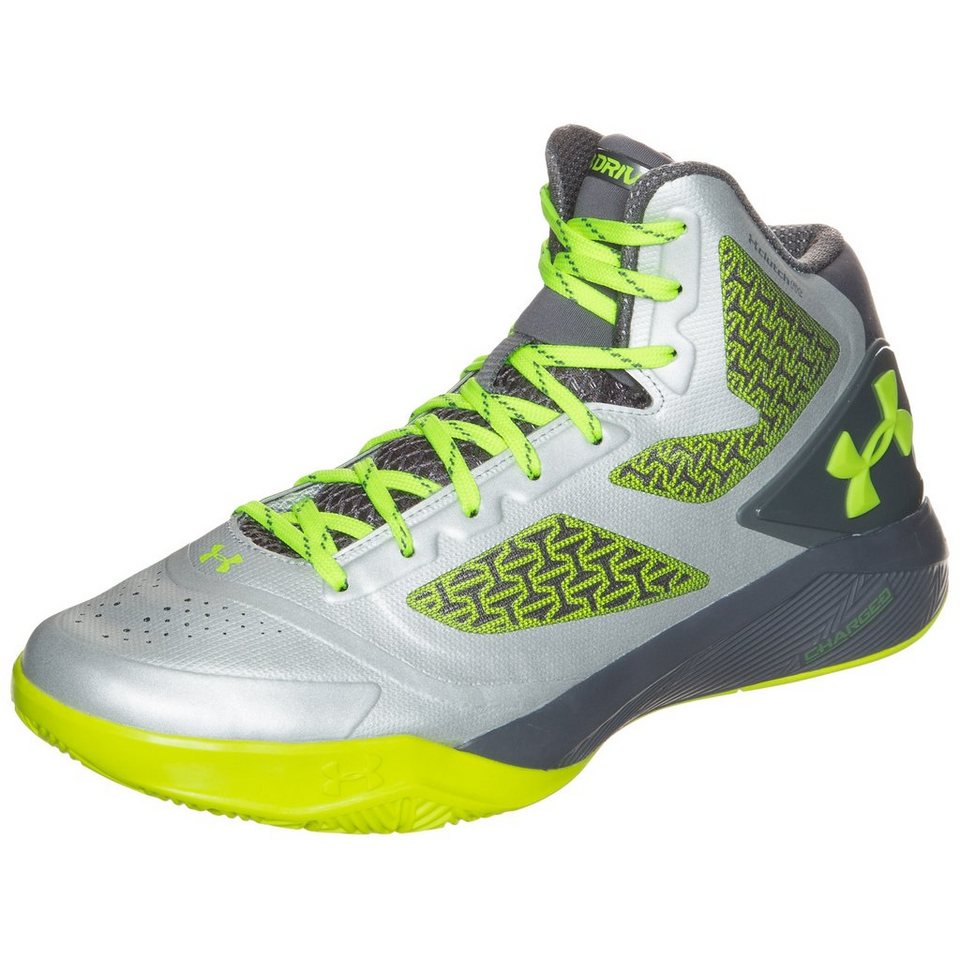 Under Armour® ClutchFit Drive II Basketballschuh Herren in silber / neongelb