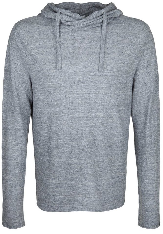 Better Rich Longsleeve »HOODED LS T-SHIRT MOULINE« in feather gray