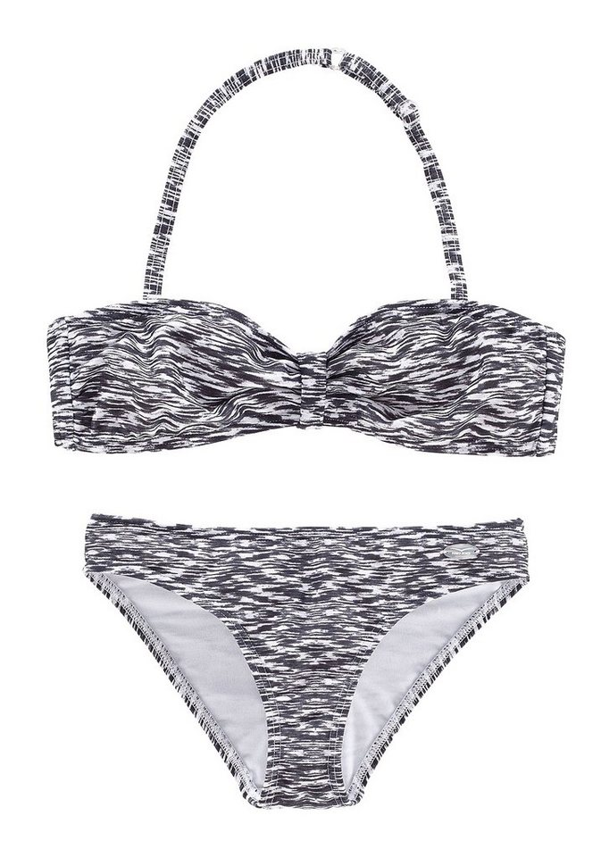 Bandeau-Bikini, Venice Beach in schwarz-weiß