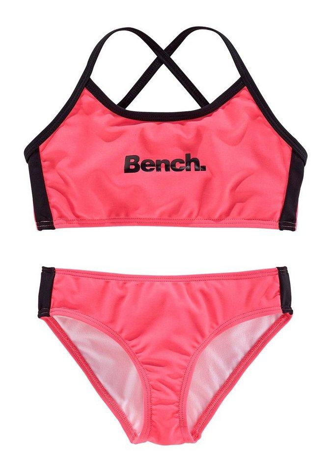 Bustier-Bikini, Bench in pink-schwarz