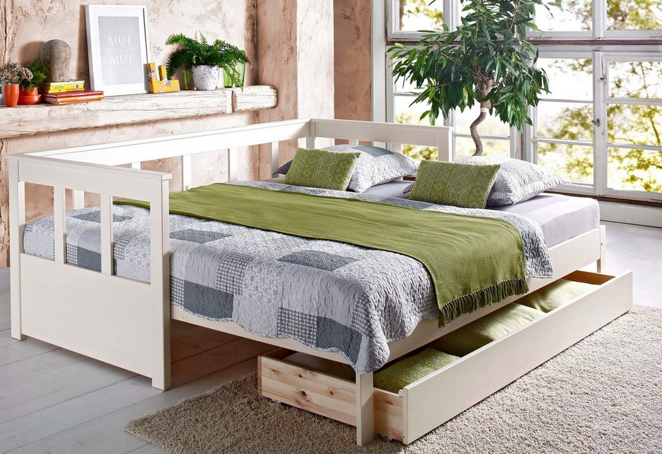 daybett home affaire aira mit ausziehbarer liegefl che online kaufen otto. Black Bedroom Furniture Sets. Home Design Ideas