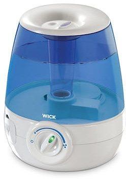 Wick Luftbefeuchter WUL460E4, Ultraschall-Luftbefeuchter flüsterleise in weiß/blau