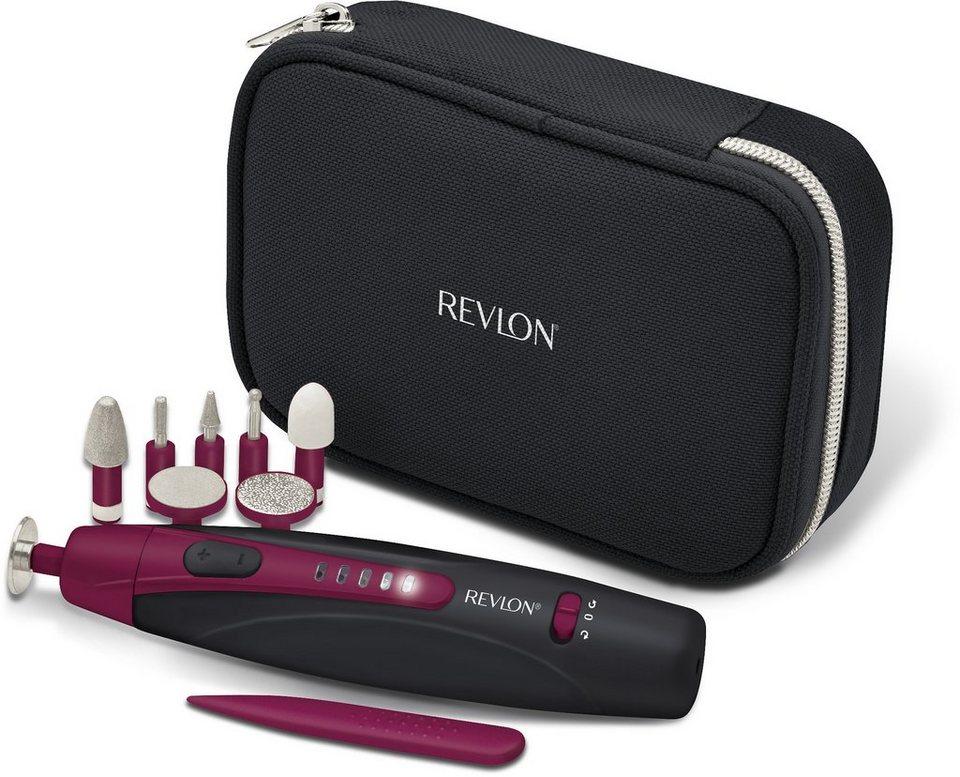 Revlon® Pediküre/Maniküre-Gerät TRAVEL CHIC RVSP3527E, Universell einsetzbar in schwarz-pink