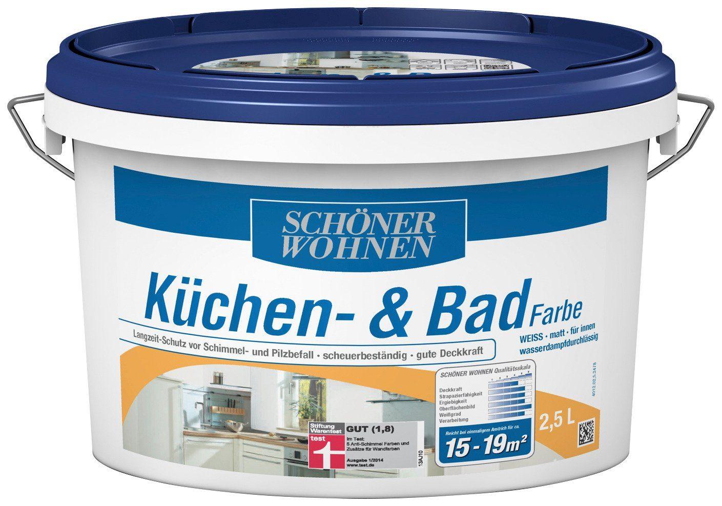 Schöner Wohnen Farbe Küchen- und Badfarbe »2,5L weiss«