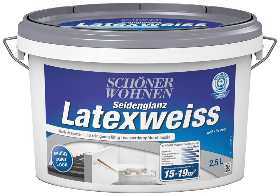 Latexweiss, seidenglänzend in weiß