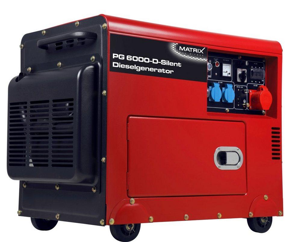 Stromerzeuger »PG 6000 D« in rot