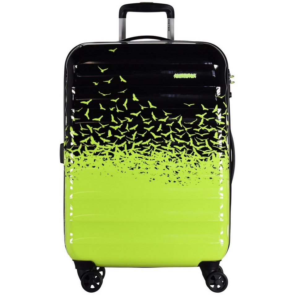 American Tourister Palm Valley Fly Away Edition Spinner 4-Rollen Trolley 77 cm in fly away green