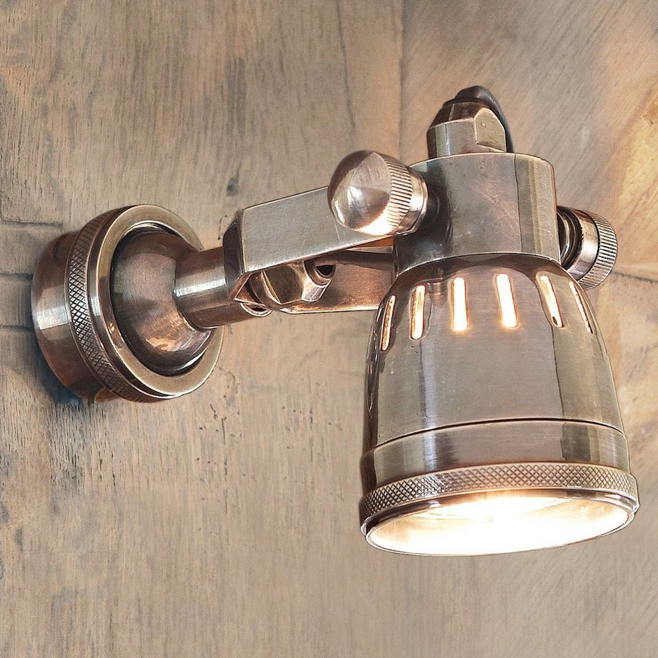 Loberon Wandlampe »Bedford« in antiksilber