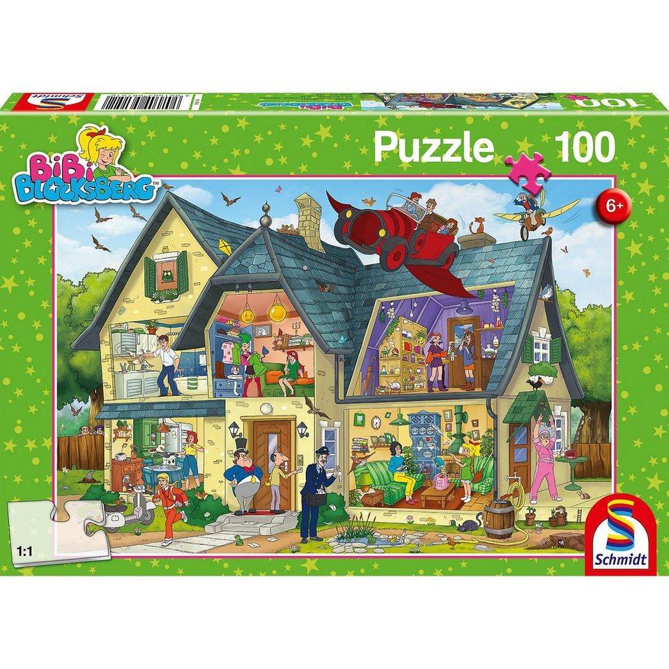 Schmidt Spiele Puzzle Bibi Blocksberg, Bei Blocksbergs ist was los!, 100 Te