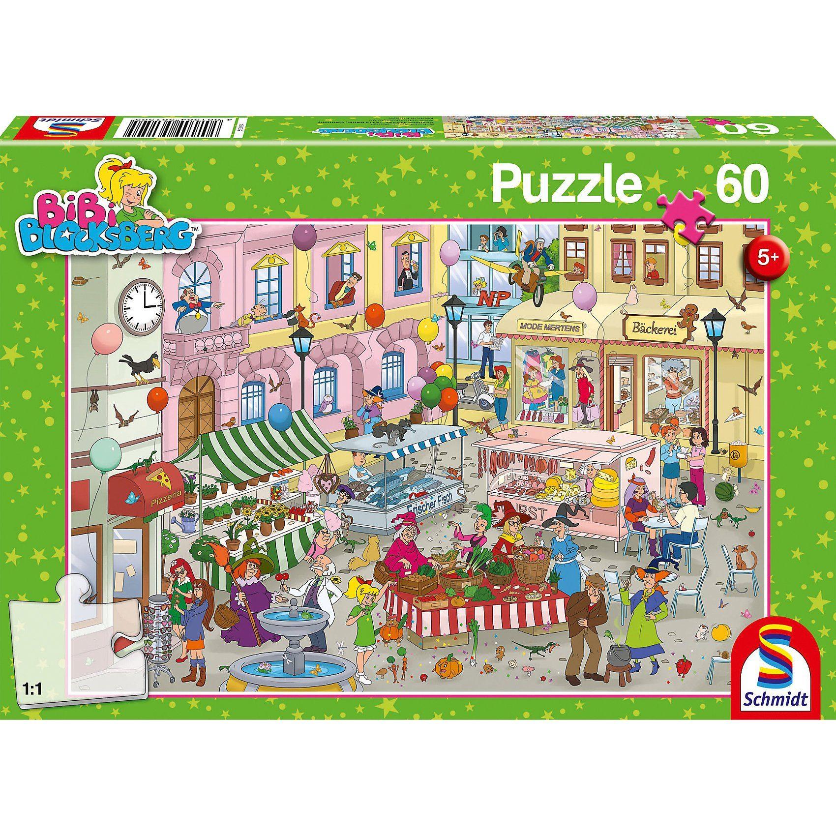 Schmidt Spiele Puzzle Bibi Blocksberg, Bibi und der verhexte Markt, 60 Teil