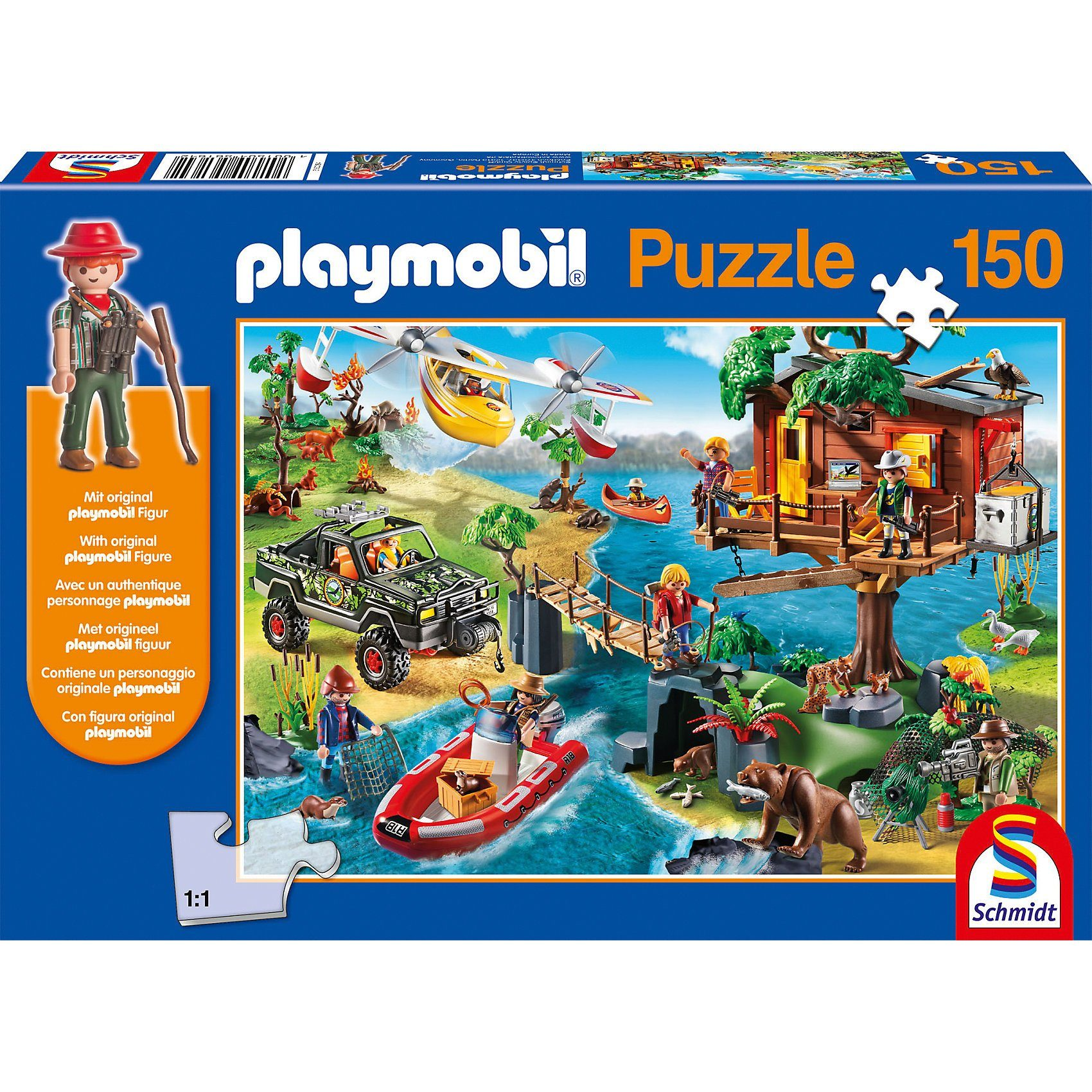 Schmidt Spiele Puzzle Playmobil (inkl. Figur), Baumhaus, 150 Teile