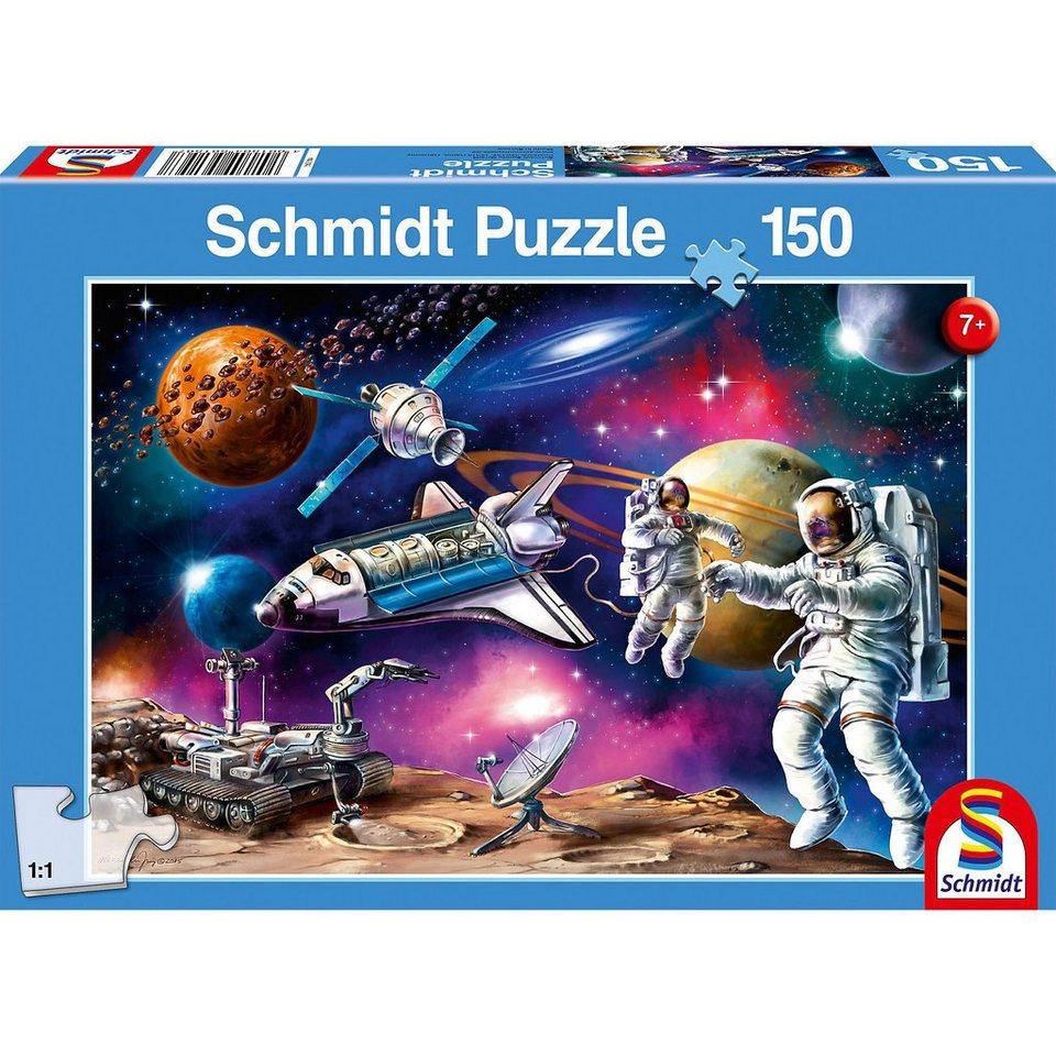 Schmidt Spiele Puzzle Weltraum-Abenteuer, 150 Teile