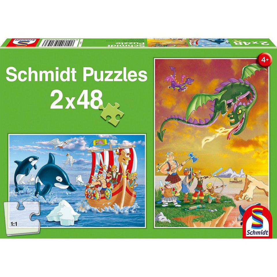 Schmidt Spiele Puzzle Wikinger, 2 x 48 Teile